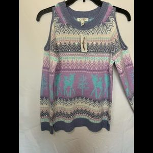 NWT Cold shoulder Kids Sweater!!!